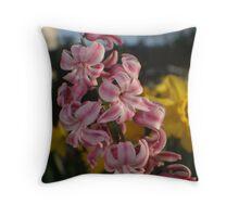 Flower bed. Throw Pillow