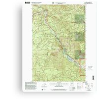 USGS Topo Map Washington State WA Cliffdell 240579 2000 24000 Canvas Print