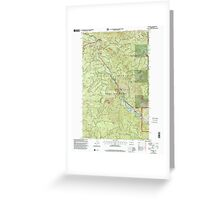 USGS Topo Map Washington State WA Cliffdell 240579 2000 24000 Greeting Card