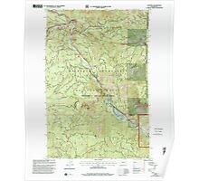 USGS Topo Map Washington State WA Cliffdell 240579 2000 24000 Poster