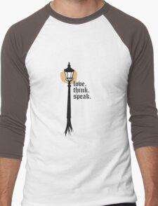 Love. Think. Speak Men's Baseball ¾ T-Shirt