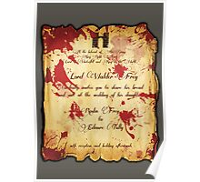 Red Wedding Poster