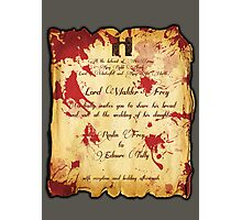 Red Wedding Photographic Print