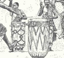 African Tribal Drummers Sticker