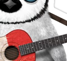 Baby Penguin Playing French Flag Guitar Sticker