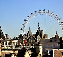 London's Eye Among The Blocks by j0sh