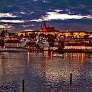Prague Castle at Night. View 1 by Anatoly Lerner