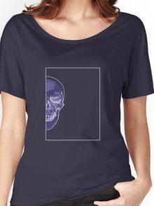 Skull Blue Mauve B Women's Relaxed Fit T-Shirt