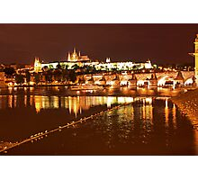 Prague Castle at Night. View 4 Photographic Print