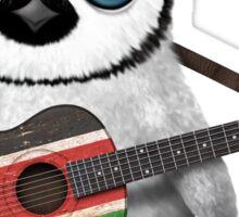 Baby Penguin Playing Kenyan Flag Guitar Sticker