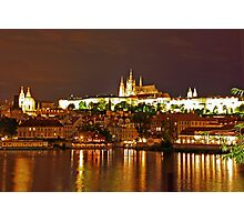 Prague Castle at Night. View 5 Photographic Print