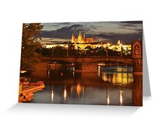 Prague Castle at Night. View 6 Greeting Card