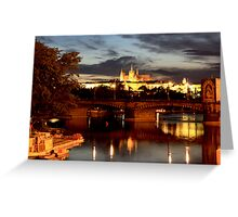 Prague Castle at Night. View 7 Greeting Card
