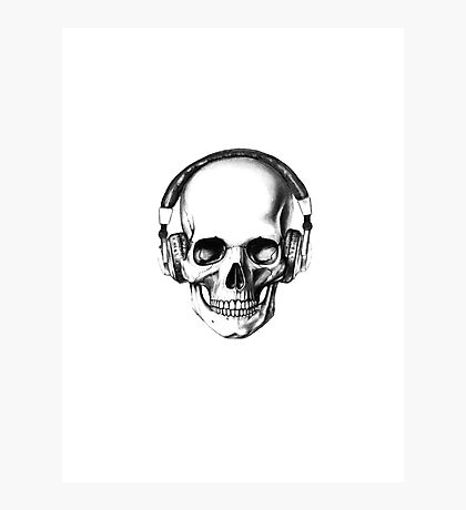 SKULL HEADPHONES Photographic Print