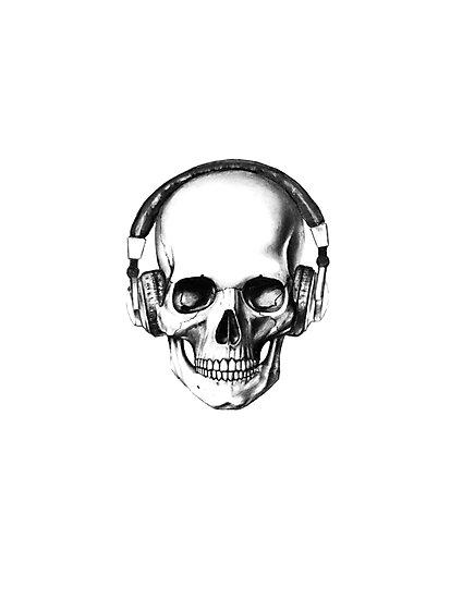 SKULL HEADPHONES by crumpy06