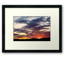 Goodbye To The Sun Framed Print