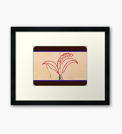 Lily Of The Valley Framed Print