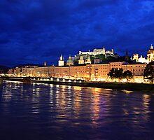 Salzburg at Night. View 2 by Anatoly Lerner