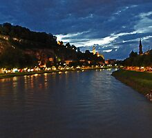 Salzburg at Night. View 3 by Anatoly Lerner