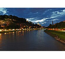 Salzburg at Night. View 3 Photographic Print