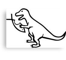 T-Rex VS Religion Canvas Print