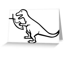 T-Rex VS Religion Greeting Card