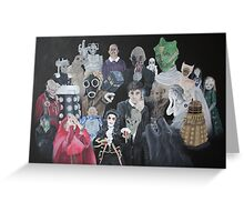 Doctor Who Horde Greeting Card