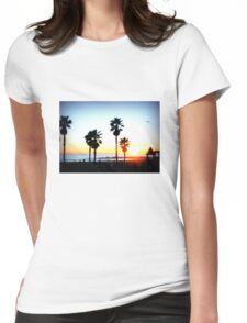 Palms Venice Beach Womens Fitted T-Shirt