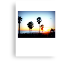 Palms Venice Beach Canvas Print