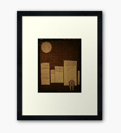 egg in the city Framed Print