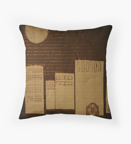 egg in the city Throw Pillow