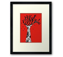 black and white tree Framed Print