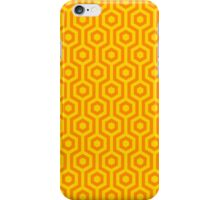 Retro Yellow Honeycomb Hexagonal Geometric Pattern iPhone Case/Skin