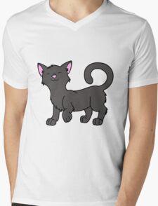 Happy Black Kitten Mens V-Neck T-Shirt