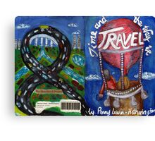 Time and the Way We Travel (front and back cover) Canvas Print