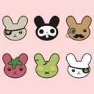 bunny faces - kawaii! by ConceptStore