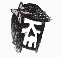 Girly Skull Sketch by Roseanne Jones