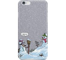 I HATE SNOW iPhone Case/Skin