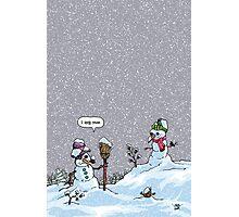 I HATE SNOW Photographic Print