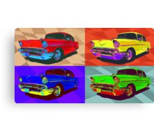 Chevy Bel Air 57, Pop Art style digital illustration. Canvas Print