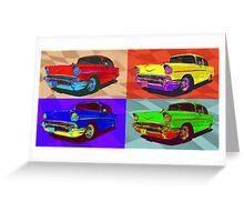Chevy Bel Air 57, Pop Art style digital illustration. Greeting Card