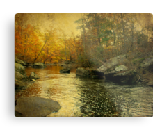 A Golden Autumn at the Unami Metal Print
