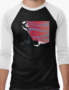 retro RAY CHARLES digital illustration  Men's Baseball ¾ T-Shirt