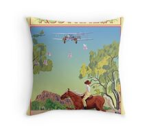 Art Deco Western Australia  Throw Pillow
