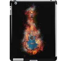 Jumbo Blue Flaming Guitar iPad Case/Skin