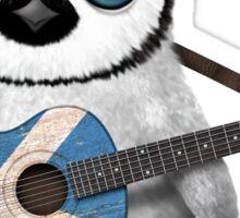 Baby Penguin Playing Scottish Flag Guitar Sticker