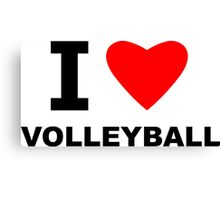I Heart Volleyball Canvas Print