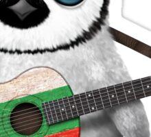 Baby Penguin Playing Bulgarian Flag Guitar Sticker