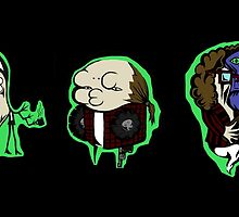 Twin Peaks (Log Lady, Agent Cooper, Leo Johnson) by xiiiart13