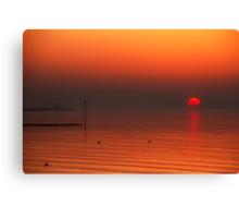 Minnis Bay Sunset Canvas Print